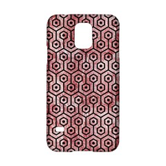 Hexagon1 Black Marble & Red & White Marble (r) Samsung Galaxy S5 Hardshell Case