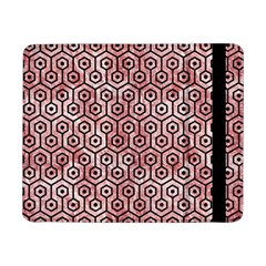 Hexagon1 Black Marble & Red & White Marble (r) Samsung Galaxy Tab Pro 8 4  Flip Case