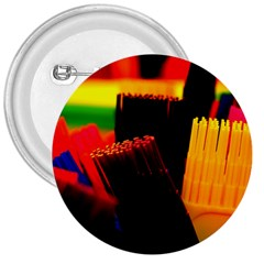 Plastic Brush Color Yellow Red 3  Buttons