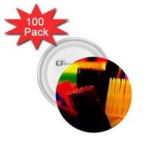 Plastic Brush Color Yellow Red 1 75  Buttons (100 Pack)