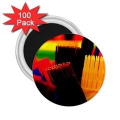 Plastic Brush Color Yellow Red 2 25  Magnets (100 Pack)