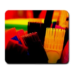 Plastic Brush Color Yellow Red Large Mousepads