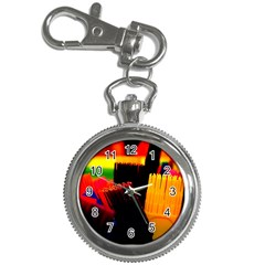 Plastic Brush Color Yellow Red Key Chain Watches