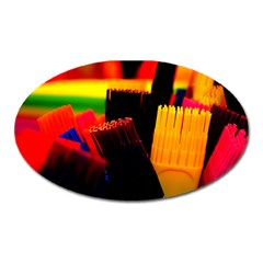 Plastic Brush Color Yellow Red Oval Magnet