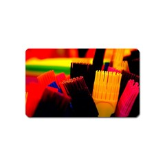 Plastic Brush Color Yellow Red Magnet (Name Card)