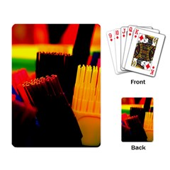 Plastic Brush Color Yellow Red Playing Card