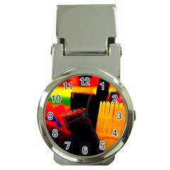 Plastic Brush Color Yellow Red Money Clip Watches