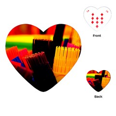 Plastic Brush Color Yellow Red Playing Cards (heart)