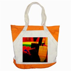 Plastic Brush Color Yellow Red Accent Tote Bag