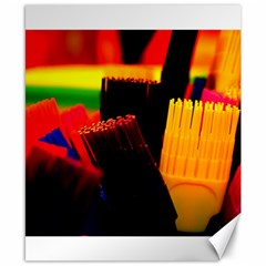 Plastic Brush Color Yellow Red Canvas 8  x 10