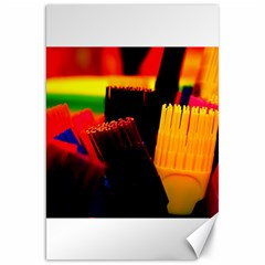 Plastic Brush Color Yellow Red Canvas 20  x 30