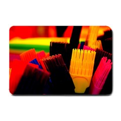 Plastic Brush Color Yellow Red Small Doormat