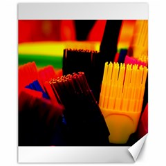 Plastic Brush Color Yellow Red Canvas 11  X 14