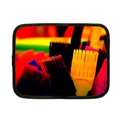 Plastic Brush Color Yellow Red Netbook Case (small)