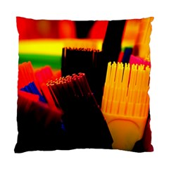 Plastic Brush Color Yellow Red Standard Cushion Case (one Side)