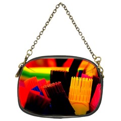 Plastic Brush Color Yellow Red Chain Purses (two Sides)