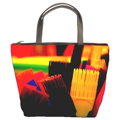 Plastic Brush Color Yellow Red Bucket Bags