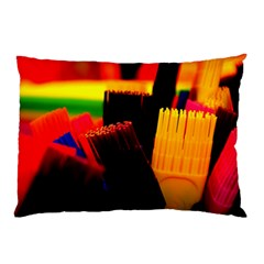 Plastic Brush Color Yellow Red Pillow Case