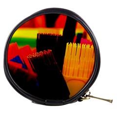 Plastic Brush Color Yellow Red Mini Makeup Bags