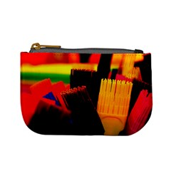 Plastic Brush Color Yellow Red Mini Coin Purses