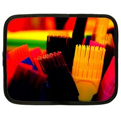 Plastic Brush Color Yellow Red Netbook Case (xl)