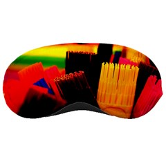 Plastic Brush Color Yellow Red Sleeping Masks