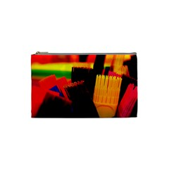 Plastic Brush Color Yellow Red Cosmetic Bag (small)