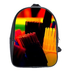 Plastic Brush Color Yellow Red School Bags(large)