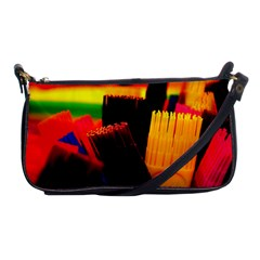 Plastic Brush Color Yellow Red Shoulder Clutch Bags