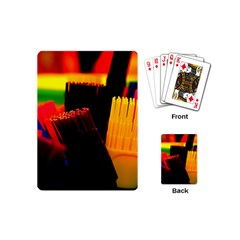 Plastic Brush Color Yellow Red Playing Cards (Mini)
