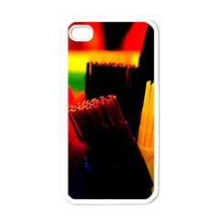 Plastic Brush Color Yellow Red Apple Iphone 4 Case (white)