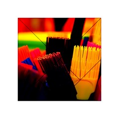 Plastic Brush Color Yellow Red Acrylic Tangram Puzzle (4  X 4 )