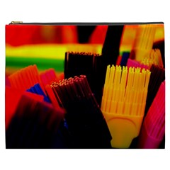 Plastic Brush Color Yellow Red Cosmetic Bag (xxxl)