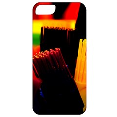 Plastic Brush Color Yellow Red Apple Iphone 5 Classic Hardshell Case