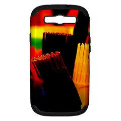 Plastic Brush Color Yellow Red Samsung Galaxy S Iii Hardshell Case (pc+silicone)