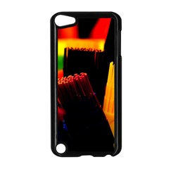 Plastic Brush Color Yellow Red Apple Ipod Touch 5 Case (black)