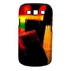 Plastic Brush Color Yellow Red Samsung Galaxy S Iii Classic Hardshell Case (pc+silicone)