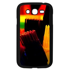 Plastic Brush Color Yellow Red Samsung Galaxy Grand Duos I9082 Case (black)