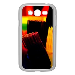 Plastic Brush Color Yellow Red Samsung Galaxy Grand Duos I9082 Case (white)