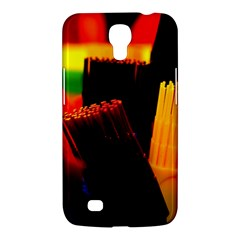 Plastic Brush Color Yellow Red Samsung Galaxy Mega 6 3  I9200 Hardshell Case