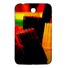 Plastic Brush Color Yellow Red Samsung Galaxy Tab 3 (7 ) P3200 Hardshell Case