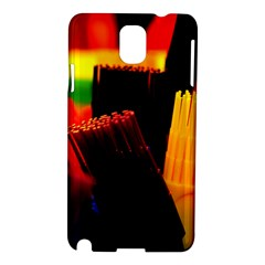 Plastic Brush Color Yellow Red Samsung Galaxy Note 3 N9005 Hardshell Case