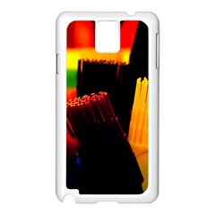 Plastic Brush Color Yellow Red Samsung Galaxy Note 3 N9005 Case (white)