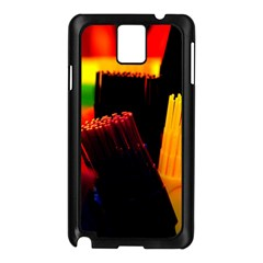 Plastic Brush Color Yellow Red Samsung Galaxy Note 3 N9005 Case (black)