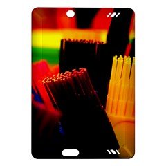 Plastic Brush Color Yellow Red Amazon Kindle Fire Hd (2013) Hardshell Case