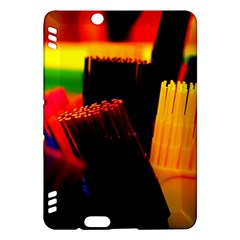 Plastic Brush Color Yellow Red Kindle Fire Hdx Hardshell Case