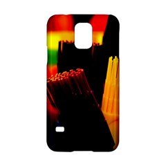 Plastic Brush Color Yellow Red Samsung Galaxy S5 Hardshell Case