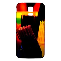 Plastic Brush Color Yellow Red Samsung Galaxy S5 Back Case (white)