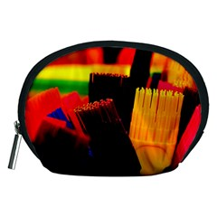 Plastic Brush Color Yellow Red Accessory Pouches (medium)