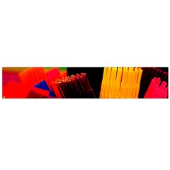 Plastic Brush Color Yellow Red Flano Scarf (large)
